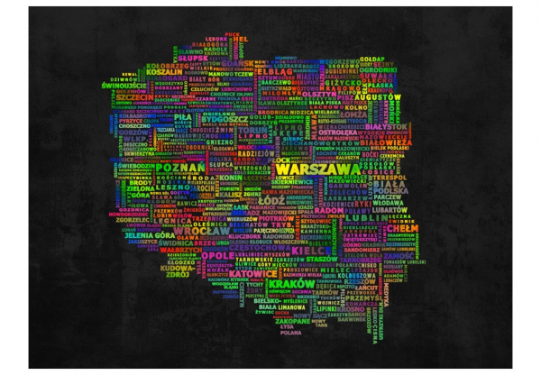 Fototapet - The map of Poland 3