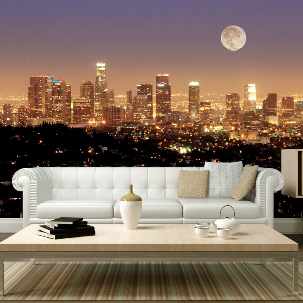 Fototapet - The moon over the City of Angels 0
