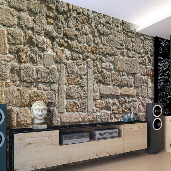 Fototapet - Wall From Stones 0