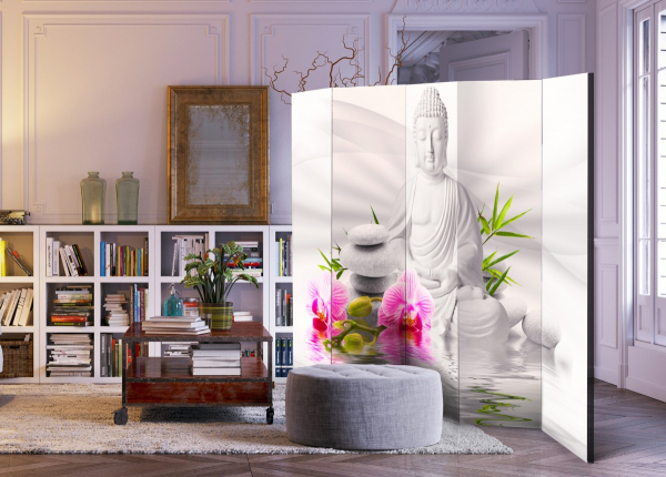 Paravan - Buddha and Orchids II [Room Dividers] [3]