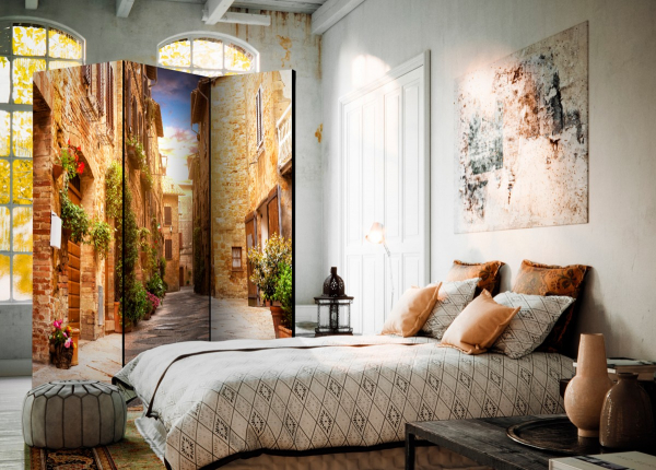 Paravan - Colourful Street in Tuscany [Room Dividers] [3]