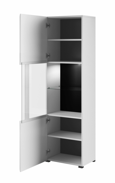 Set mobilier living MDF alb lucios Frazier, 4 piese [6]