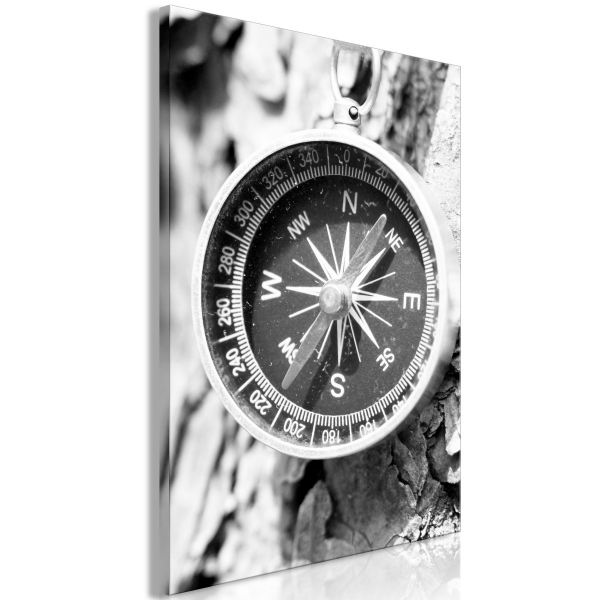 Tablou - Black and White Compass (1 Part) Vertical 0