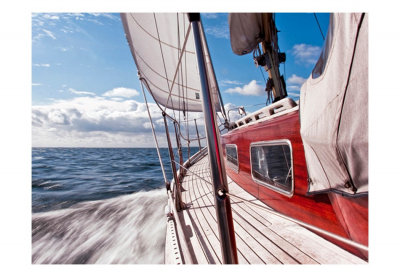 Fototapet - A boat far from the shore3