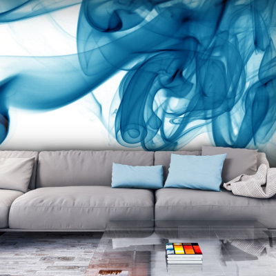 Fototapet - Blue smoke0