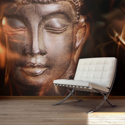 Fototapet - Buddha. Fire of meditation.0