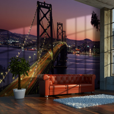 Fototapet - Charming evening in San Francisco0