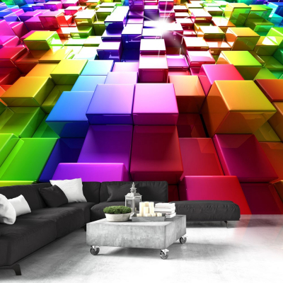Fototapet - Colored Cubes0
