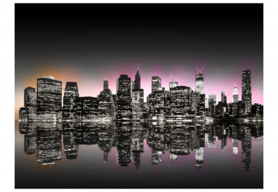 Fototapet - Colorful glow over NYC3