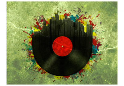 Fototapet - Colorful melodies of the city [3]