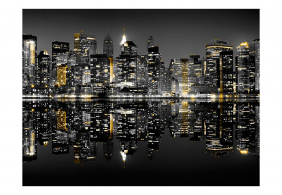 Fototapet - Gold and silver - NYC [3]
