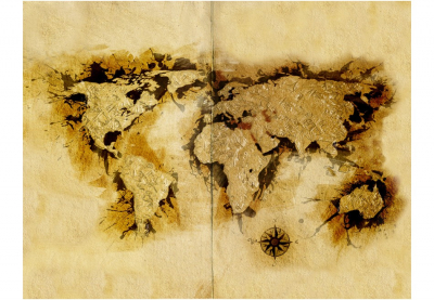 Fototapet - Gold-diggers' map of the World [3]