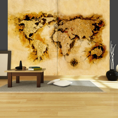 Fototapet - Gold-diggers' map of the World [0]
