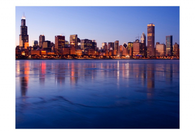 Fototapet - Icy Downtown Chicago3
