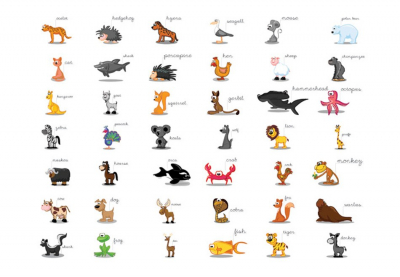 Fototapet - Learning by playing (animals)3