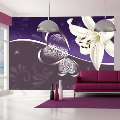 Fototapet - Lily in shades of violet [0]
