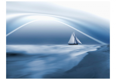 Fototapet - Lonely sail drifting3