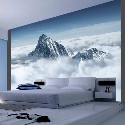 Fototapet - Mountain in the clouds0