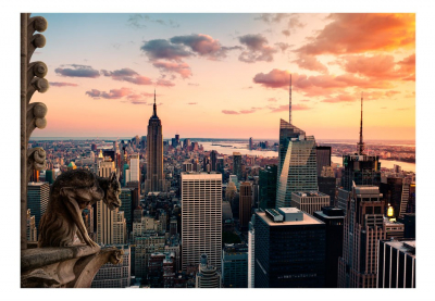 Fototapet - New York: The skyscrapers and sunset3