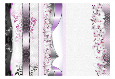 Fototapet - Parade of orchids in violet3