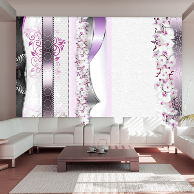Fototapet - Parade of orchids in violet0