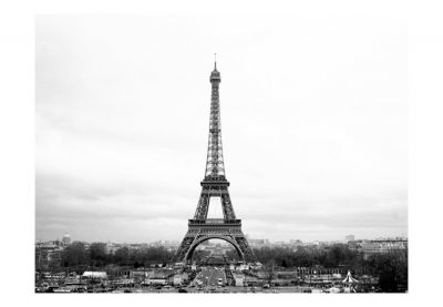 Fototapet - Paris: black and white photography3