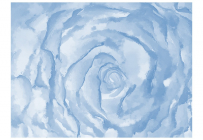 Fototapet - rose (blue)3