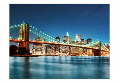 Fototapet - Sparkling Brooklyn Bridge3