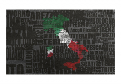 Fototapet - Text map of Italy3