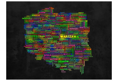 Fototapet - The map of Poland3