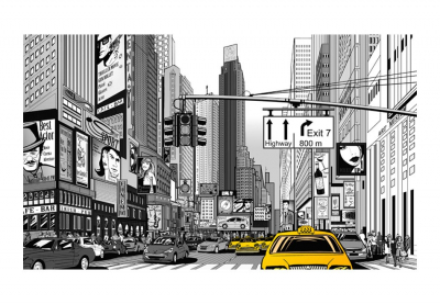 Fototapet - Yellow cabs in NYC3