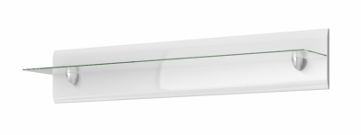 Set mobilier living alb lucios Barker II, 4 piese, iluminare LED [7]