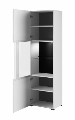 Set mobilier living MDF alb lucios Frazier, 3 piese [6]