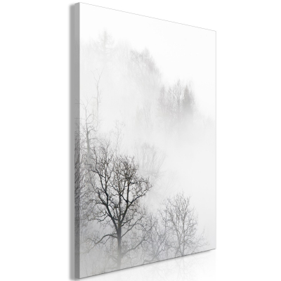 Tablou - Trees In The Fog (1 Part) Vertical0