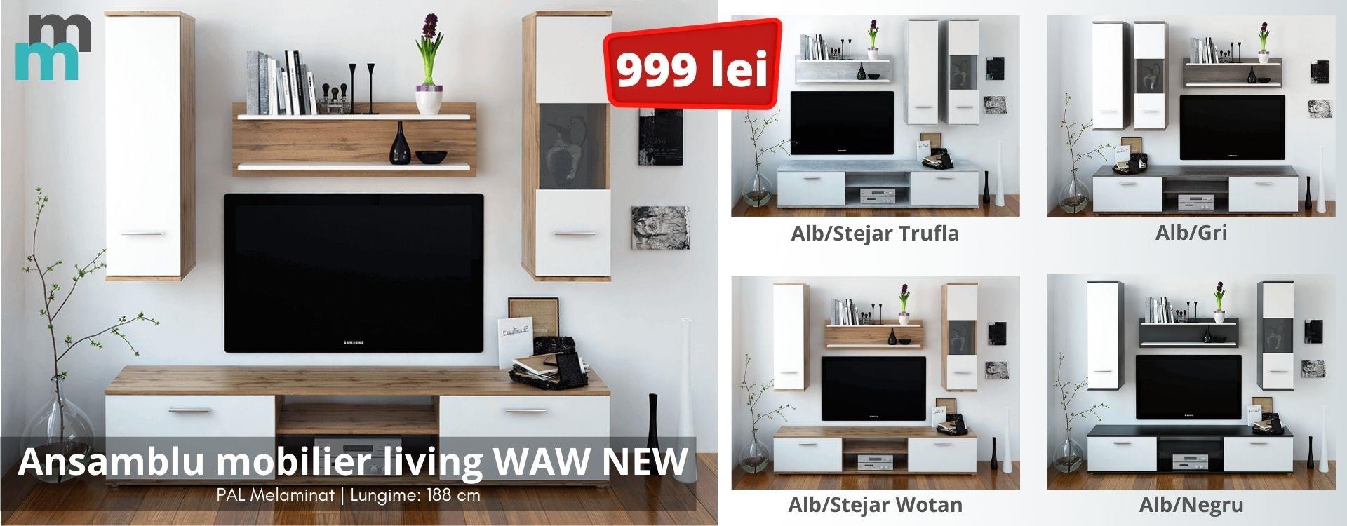Ansamblu mobilier living WAW NEW