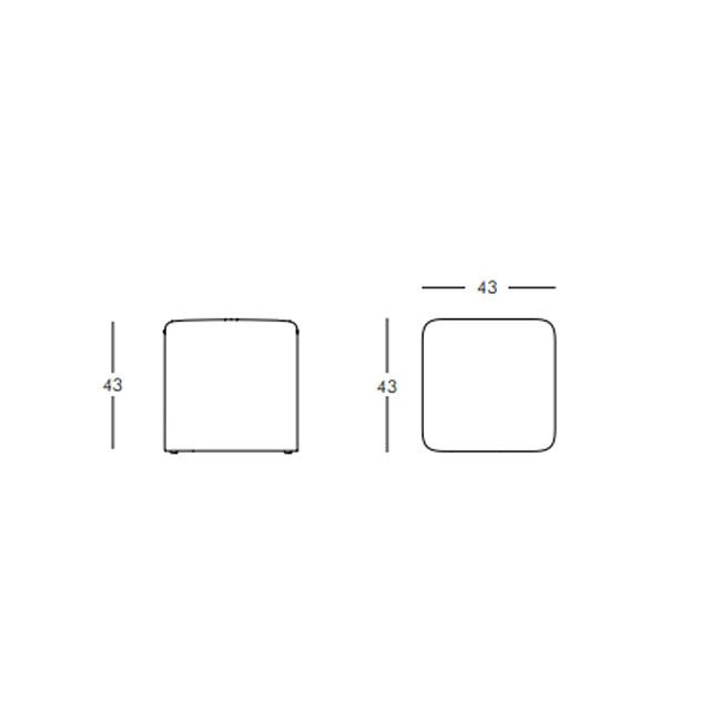 Taburet poliuretan CUBO SOFT Alb [1]