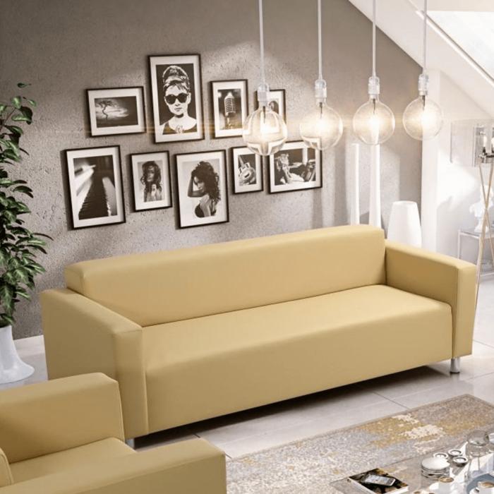 Canapea 3 locuri imitatie piele HOMKER [2]