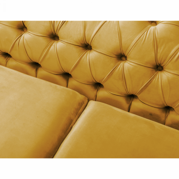 Canapea cu 2 locuri de lux tapiterie auriu NIKOL 2 ML 1