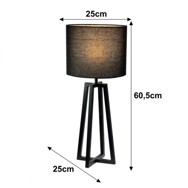 Lampa de masa negru QENNY 15 1