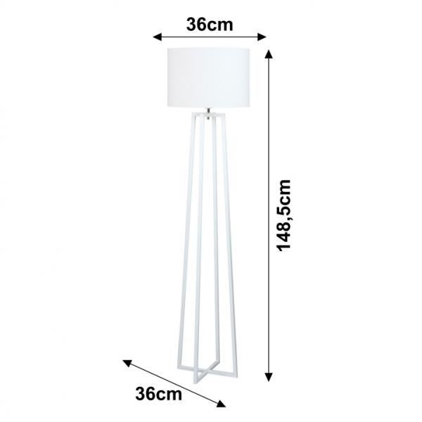 Lampa de podea alb QENNY TYP 16 1