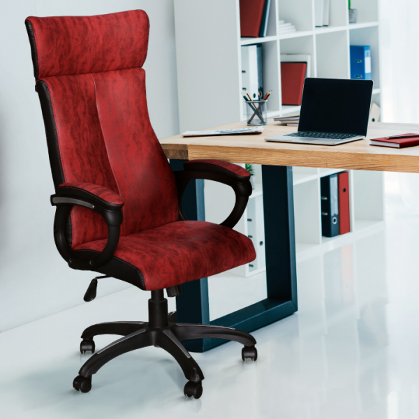 Scaun de birou rotativ tapitat MERSIN [3]