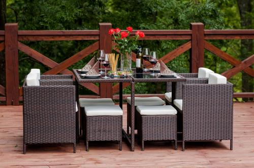 Set terasa/outdoor tehno-rattan CRISTALLO Dark Brown 13