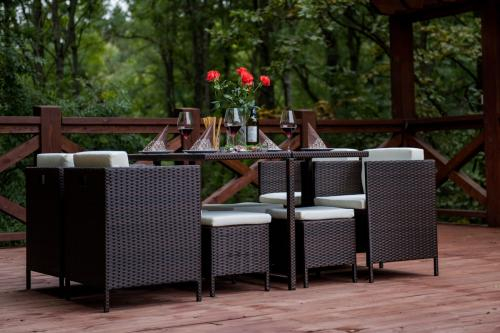 Set terasa/outdoor tehno-rattan CRISTALLO Dark Brown 12