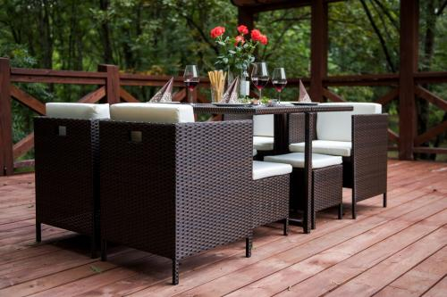 Set terasa/outdoor tehno-rattan CRISTALLO Dark Brown 11