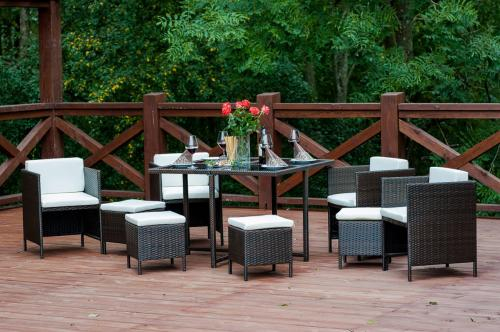 Set terasa/outdoor tehno-rattan CRISTALLO Dark Brown 10