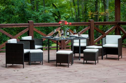 Set terasa/outdoor tehno-rattan CRISTALLO Dark Brown 9