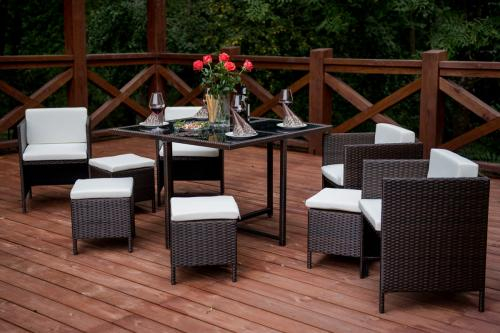 Set terasa/outdoor tehno-rattan CRISTALLO Dark Brown 8