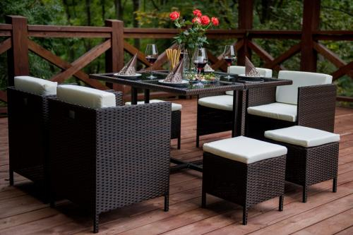 Set terasa/outdoor tehno-rattan CRISTALLO Dark Brown 6