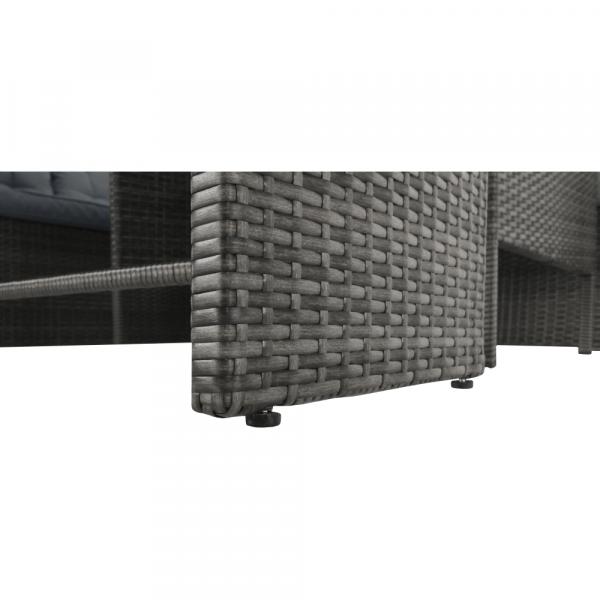 Set de gradina din 3 piese tehno-rattan gri AUREK 15