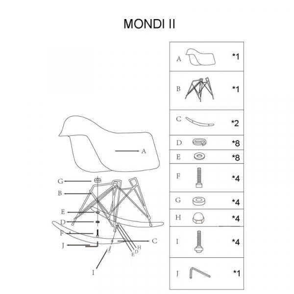 Balansoar SL Mondi II alb 1